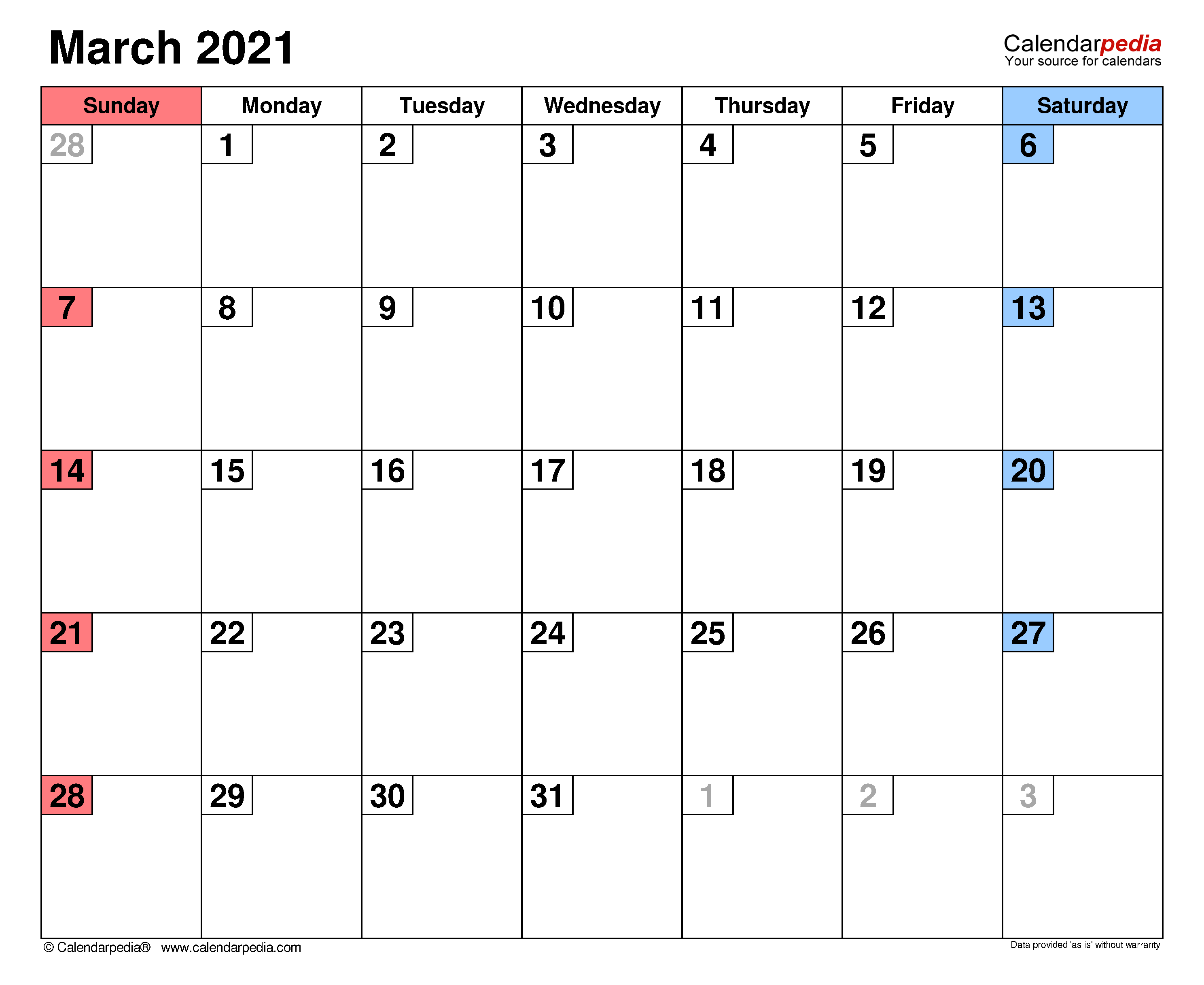 April 2020 To March 2021 Calendar | Printable Calendars 2021