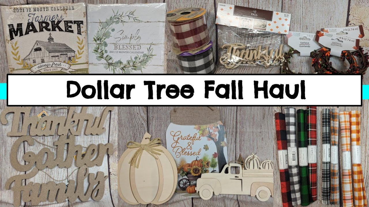 New Dollar Tree Haul   July 2020   New And Fall Items For Upcoming Diys  #dollartree