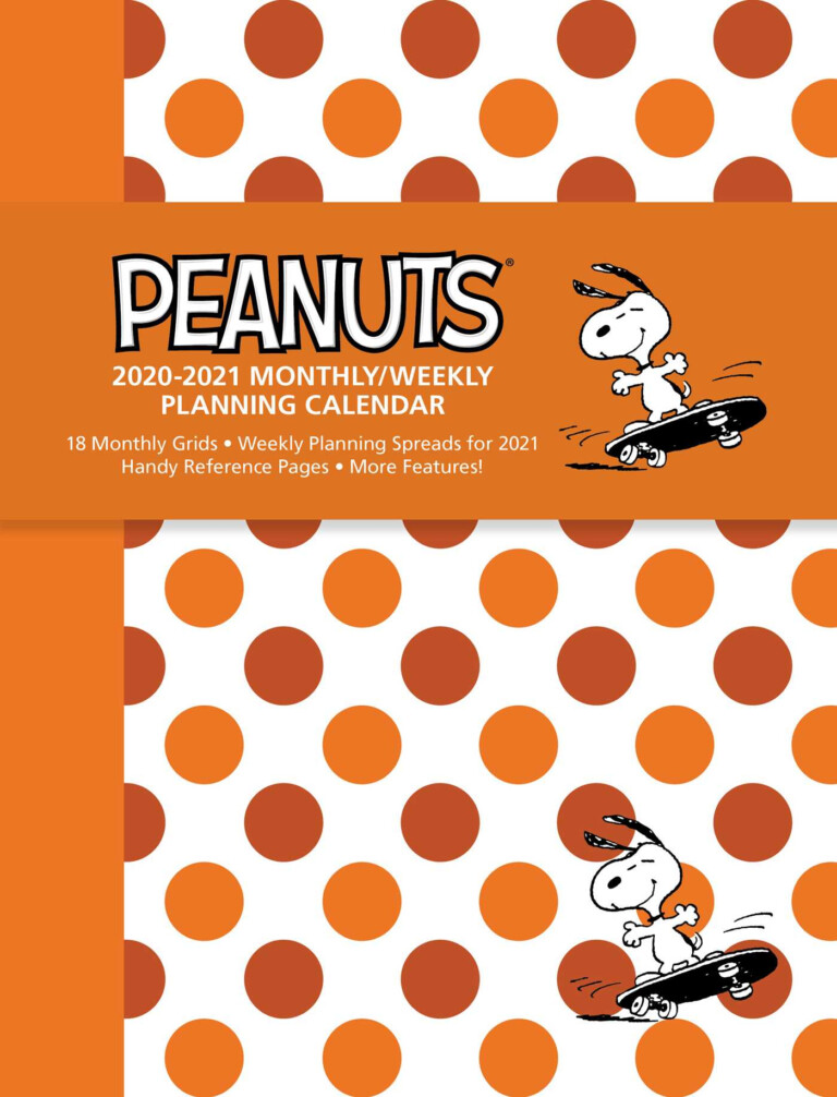 Peanuts 2020-2021 Monthly/weekly Planning Calendar - Book