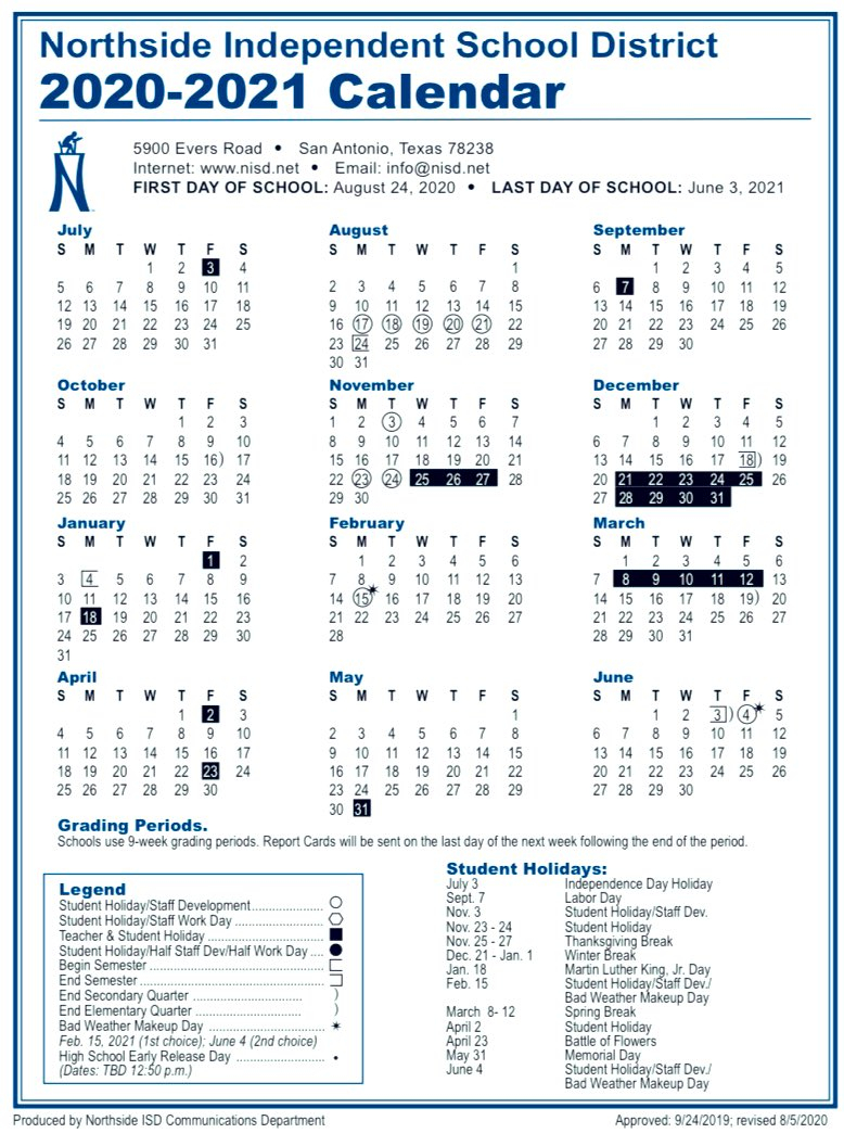Nisd Calendar 2022.N I S D C A L E N D A R 2 0 2 0 2 0 2 1 Zonealarm Results