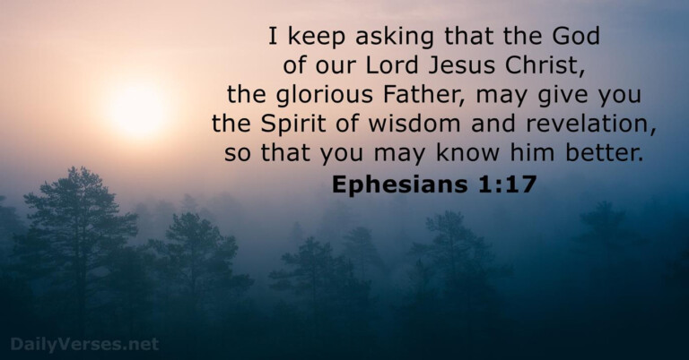 February 2, 2021 - Bible Verse Of The Day - Ephesians 1:17