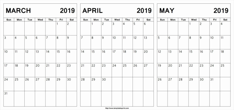 March April And May 2019 Calendar Qualads